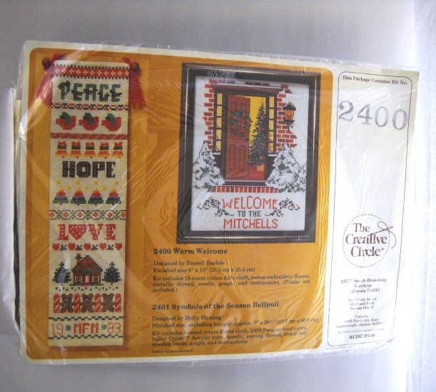Cross Stitch kit from The Creative Circle (1987 Printed in USA ) - Warm Welcome