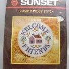 Stamped Cross Stitch kit from Sunset Designs - Welcome Friends