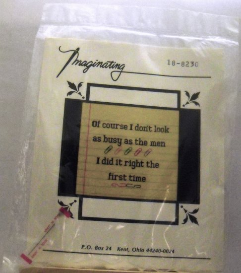 Counted Cross Stitch kit from Imaginating with Marilyn Clark, Inc. - I did it right