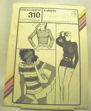 Pattern 310 from Stretch & Sew (1979) - t-shirts