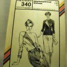 Pattern 340 from Stretch & Sew (1980) - asymmetrical blouse