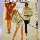Pattern 7970 from McCall's (1982) Size Medium (14-16) - Misses' Shirt pattern