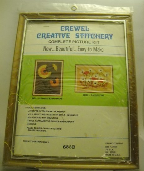 Crewel kit from Crewel Creative Stitchery - 683B Dandelions