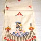 Vintage Southern Belle dresser scarf/table runner - Hand made and hand embroidered