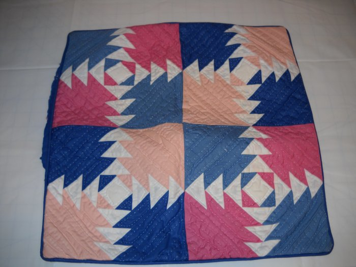 Pineapple Quilt Block Patchwork Pillow Cover