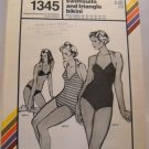 Pattern 1345 from Stretch & Sew (1979) - v-neck swimsuits and triangle bikini