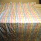 Pastel Plaid Window Curtain Panel - Handcrafted