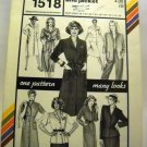 Pattern 1518 from Stretch & Sew(1983) - coat dress and jacket