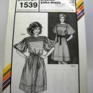 Stretch & Sew Pattern 1539 - (1984) - pleated yoke dress
