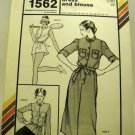 Stretch & Sew Pattern 1562 - (1980) - sport dress and blouse