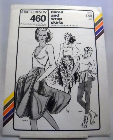 Stretch & Sew Pattern 460 - (1979) - flared and wrap skirts