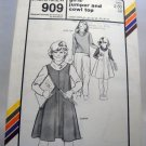 Pattern 909 from Stretch & Sew(1981) - girls' jumper and cowl top
