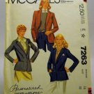 Pattern 7263 from McCall's (1980) Size 16 - misses' jacket pattern
