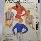 McCall's Pattern 7883 - (1982) Size 16 - misses' pullover blouse pattern