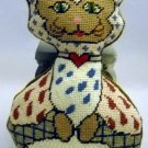 Completed Needlepoint Pillow/Toy -  Kitty