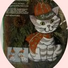 Vintage Paragon NeedleCraft Felt Applique Stocking Kit (1977) - Christmas for Kitty