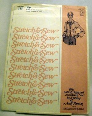 Pattern 335 from Stretch & Sew(1975) - Ladies Vest