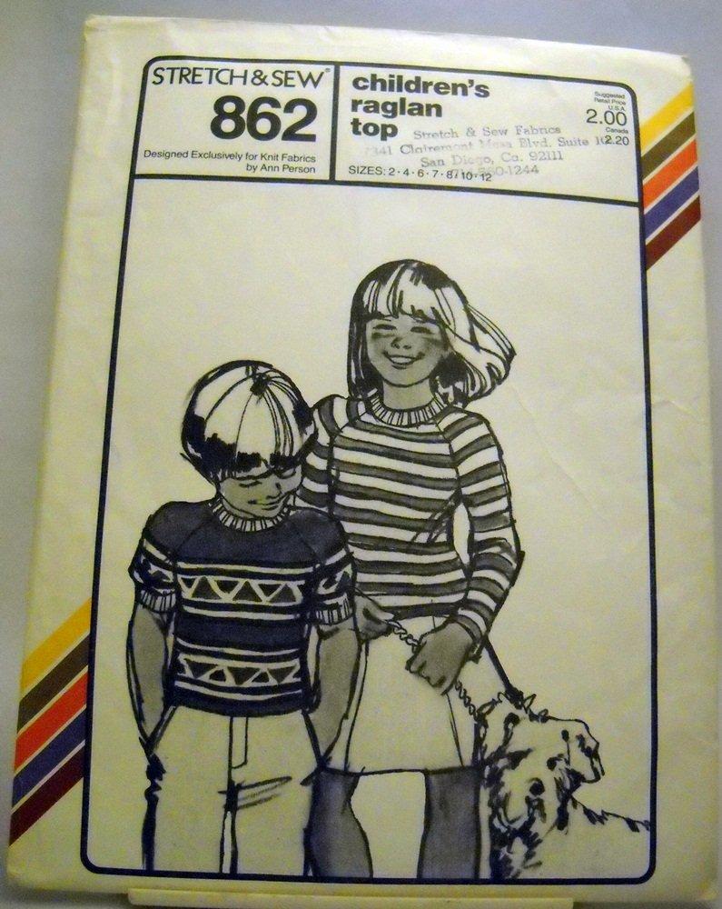 Pattern 862 from Stretch & Sew(1979) - children's raglan top