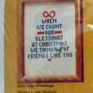 Counted Cross Stitch kit from The Creative Circle (1979 Printed in USA ) - 2155 Our Blessings