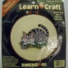 Needlepoint kit from Learn a Craft Dimensions (1996) - A Cat and a Mouse