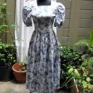 Laura Ashley Blue Floral Print Dress size 4 (UK 8)