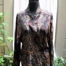 Linda Allard for Ellen Tracy Long Dolman Sleeve Wrap Silk Blouse - Size 4