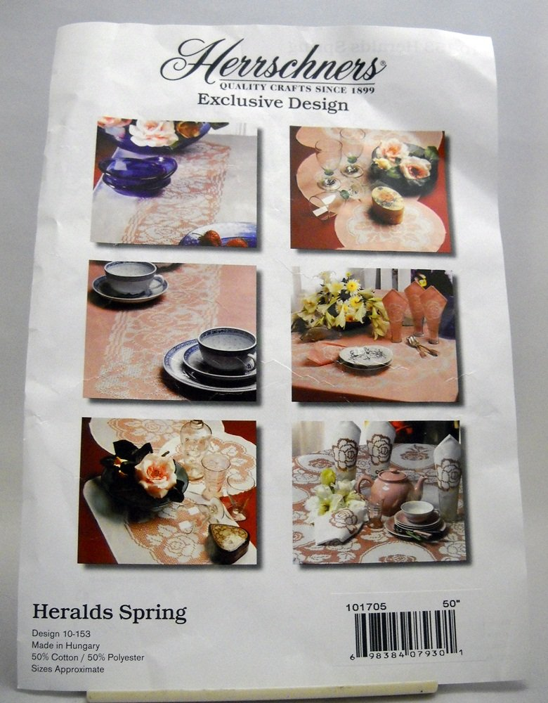 Stamped Cross Stitch Table Topper from Herrchners -  Heralds Spring - design 10-153