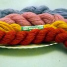 3 ply yarn - lot of 4 skeins assorted colors