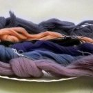 1 ply yarn - lot of 6 skeins assorted colors