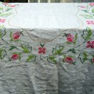 Vintage Medium Size Finished Cross Stitch Tablecloth