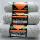 Red Heart Classic Yarn from Coats & Clark 3.5 oz (100 g) skein - Lot of 6 skeins color silver
