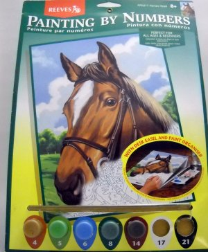 Unpainted Painting by Numbers Kit from Reeves (2001)  - Horses Head  PPNJ11
