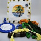 Slightly Worked Painted Canvas Needlepoint kit from Auburnneedleworks - ID Tag