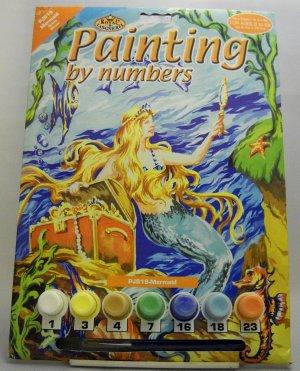 Unpainted Painting by Numbers Kit from Royal & Langnickel - Mermaid PJS19