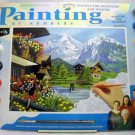 Unpainted Painting by Numbers Kit from Reeves - Mountain Chalets PL30