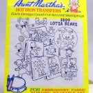 Aunt Martha's Hot Iron Transfers from Colonial Patterns, Inc. - 3809 Lotsa Bears