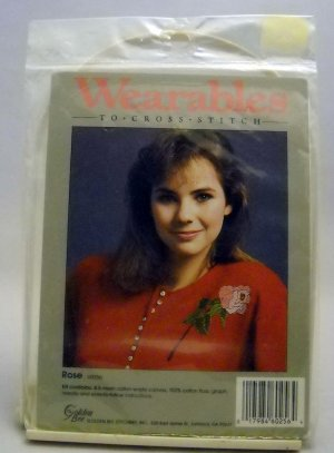 Wearables to Cross Stitch Kit from Golden Bee Stitchery Inc. - Rose 60256