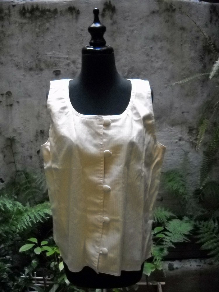Woman's Yellow Vest - Handcrafted