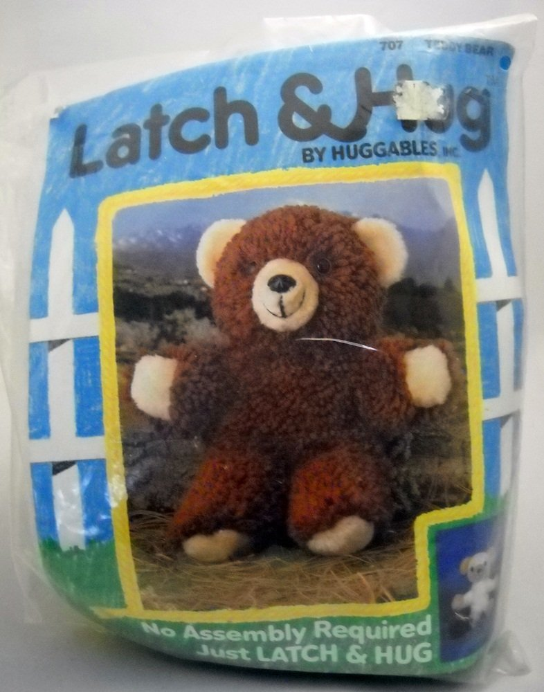 Latch Hook Stuffed Toy Kit by Huggables, Inc. - Teddy Bear 707