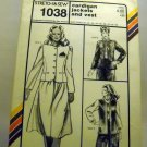 Pattern 1038 from Stretch & Sew(1982) - cardigan jackets and vest