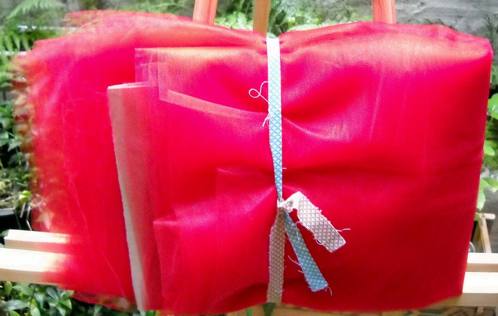 """52/54""""wide X 12yds of Red Nylon Tulle"""