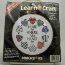 Stamped Cross Stitch kit from Dimensions Learn a Craft (1997) - Home and Heart 72408