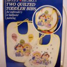 Vogart Sweethearts two quilted toddler bibs for embroidery or ballpoint painting -   style 201J