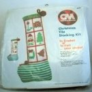 Christmas Tile Stocking Kit from Columbia Minerva (1981) - #4377 Yule Tile Stocking
