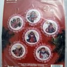 Janlynn Christmas Counted Cross Stitch Kit(1994 Made in USA) - Holiday Angels Ornaments #125-90