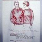 Vintage Leaflet No. 16 Oregon Worsted Co. - Heather Raglan Sweaters, V Neck or Crew, for Her or Him