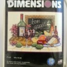 "Dimensions Counted Cross Stitch Kit (2002 Made in USA) - ""Bon Appetit"" 6915"