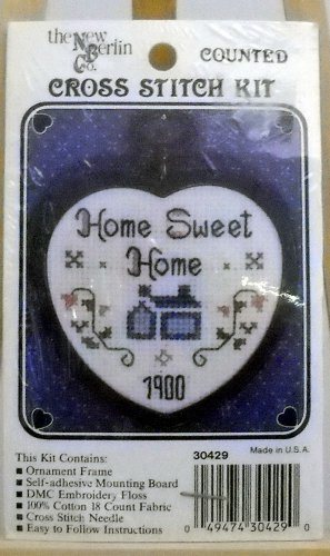 the New Berlin mini counted cross stitch kit(1987) #30429 Home Sweet Home