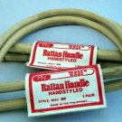 Vintage Macra Naut Rattan D Shape Purse Craft Handles - 5 Pair Style 250