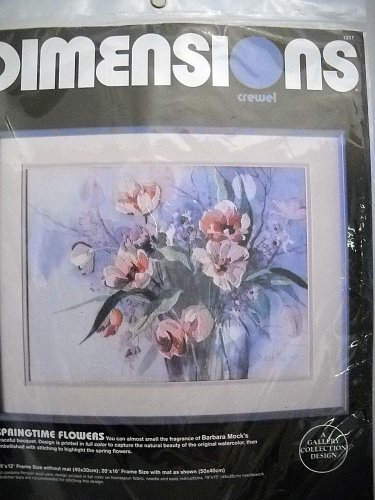 Dimensions Crewel  Kit Springtime Flowers #1337 A Gallery Collection Design (1987)
